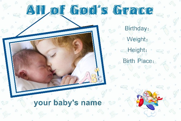 Free photo templates baby birth announcement for Free online birth announcements templates