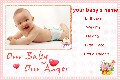 Baby & Kids photo templates Baby Birth Announcement