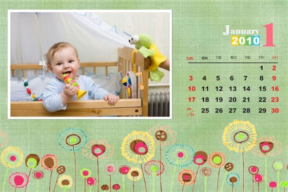 Calendar Design Baby : The easiest tool to design baby photo calendar and