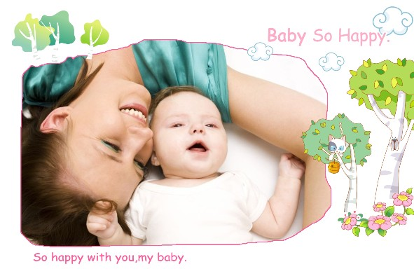 Baby & Kids photo templates Baby So Happy