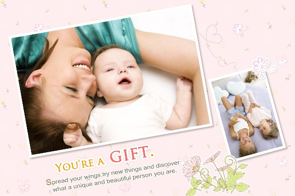 Baby & Kids photo templates Baby Wings