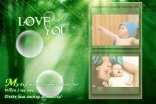 Baby & Kids photo templates Flowers Speaking