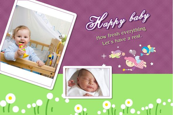 Free photo templates - Happy Baby Album