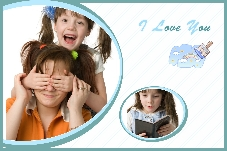 Baby & Kids photo templates Love You Much