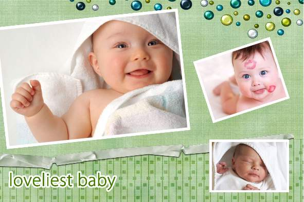 Baby & Kids photo templates Lovely Baby Album