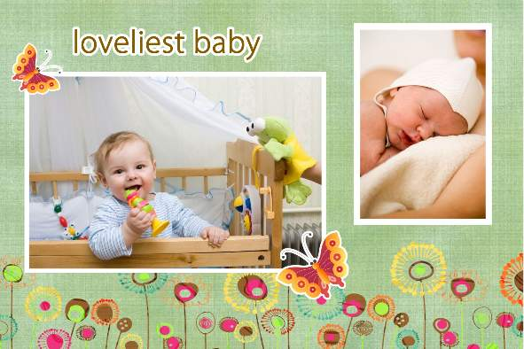 Free photo templates - Lovely Baby Album