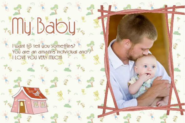 Free photo templates - My Baby Album 2