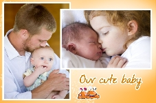 Baby & Kids photo templates Our Cute Baby