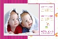 Baby & Kids photo templates Twins Baby Birth Announcement Series 2