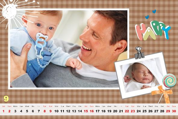 Baby & Kids photo templates Baby Calendar-1