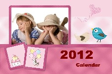 Free Photo calendar templates for editing photo