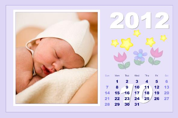 Baby & Kids photo templates Baby Calendar-3