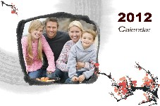 Family photo templates Happy Calendar-2