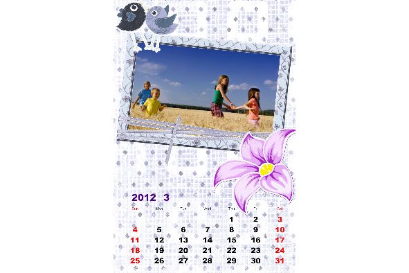 Photo Calendar photo templates Happy Calendar-3