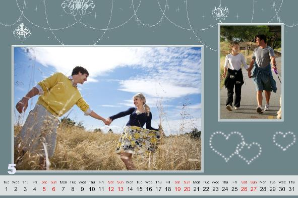 Photo Calendar photo templates Loving Calendar-3