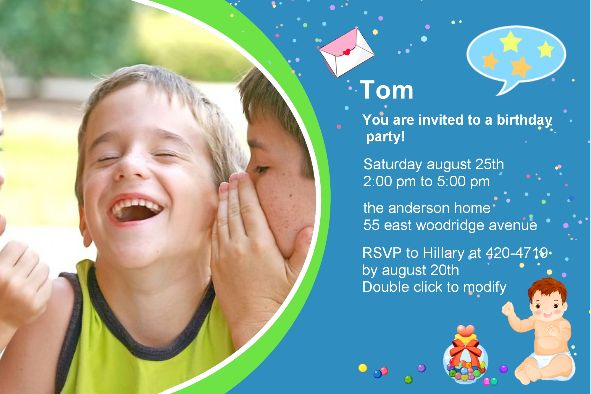 all templates photo templates birthday party invitations 2