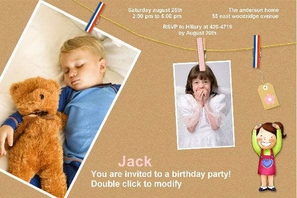 Free Photo Templates Birthday Party Invitations - Birthday invitation photoshop template