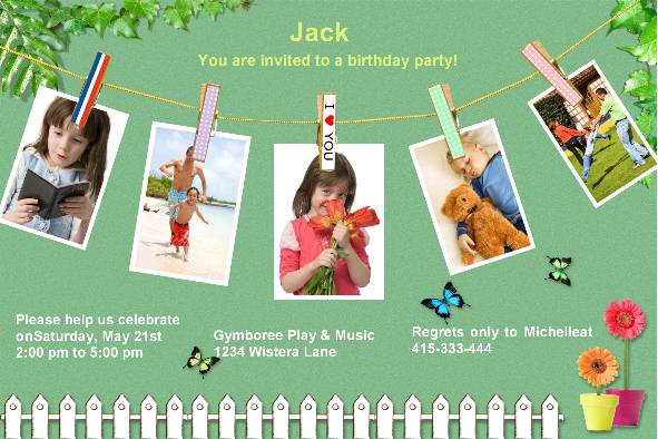 All Templates photo templates Birthday Party Invitations (3)