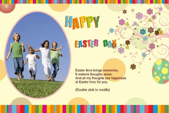 Birthday & Holiday photo templates Easter Card-3