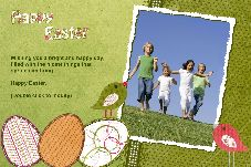 Birthday & Holiday photo templates Easter Card-4