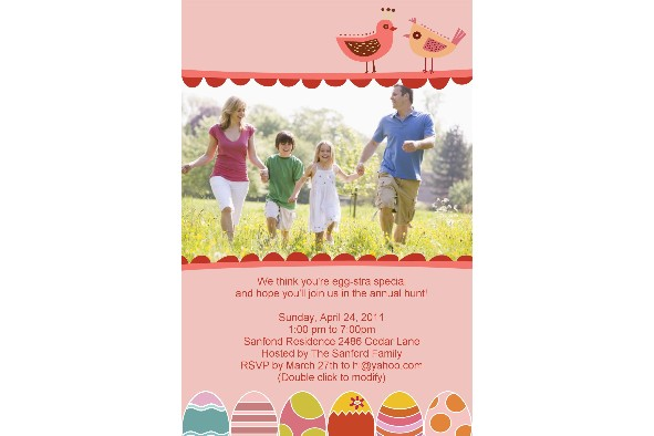 Free Photo Templates  Easter Day Invitation
