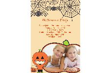 Birthday & Holiday photo templates Halloween Invitations-3