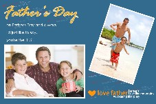 Family photo templates Happy Father's Day