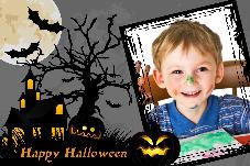 Birthday & Holiday photo templates Happy Halloween-1