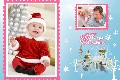 Family photo templates Merry Christmas 2