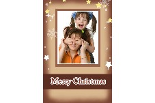 Birthday & Holiday photo templates Merry Christmas_Chocolate
