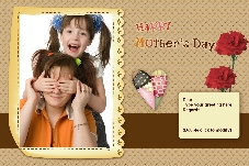 Family photo templates Mother's day cards