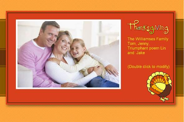 All Templates photo templates Thanksgiving Cards