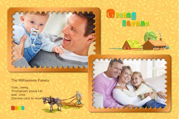 Family photo templates Thanksgiving Cards