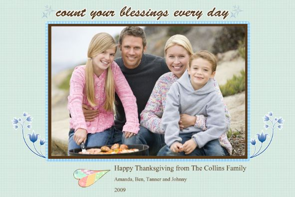 Birthday & Holiday photo templates Thanksgiving Cards