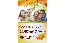 Birthday & Holiday photo templates Thanksgiving Invitation-3