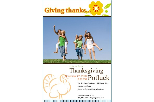 All Templates photo templates Thanksgiving Invitations