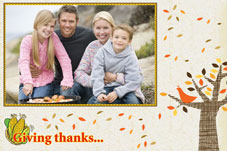 Birthday & Holiday photo templates Thanksgiving Wishes