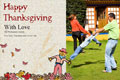 Family photo templates Thanksgiving Wishes