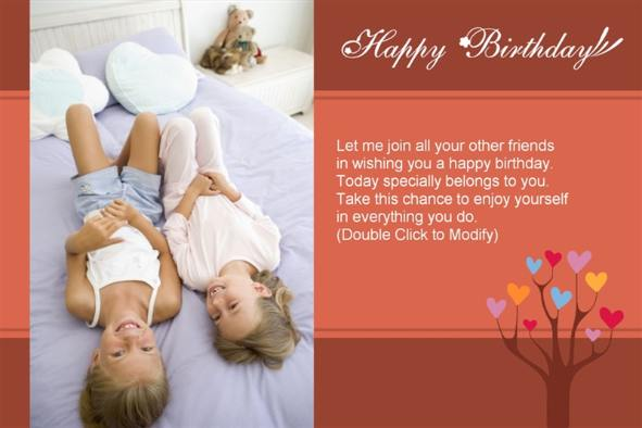 Free Friendship Birthday Ecards ~ Free photo templates happy birthday cards to friends
