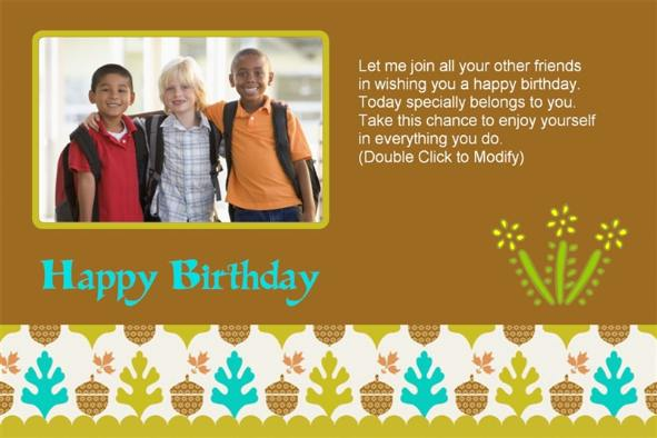 Free photo templates Happy Birthday Cards 3 To Friends – Happy Birthday Cards for a Friend