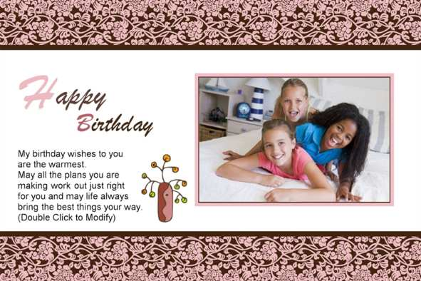 free photo templates happy birthday cards 3 to friends. Black Bedroom Furniture Sets. Home Design Ideas