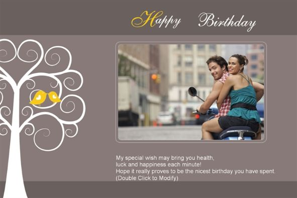free photo templates happy birthday cards 4 love. Black Bedroom Furniture Sets. Home Design Ideas