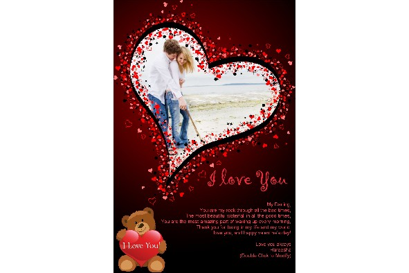 Love & Romantic templates photo templates Happy Valentines Day-18