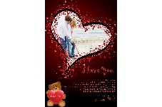 Family photo templates Happy Valentines Day-18
