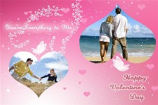 Birthday & Holiday photo templates Happy Valentines Day