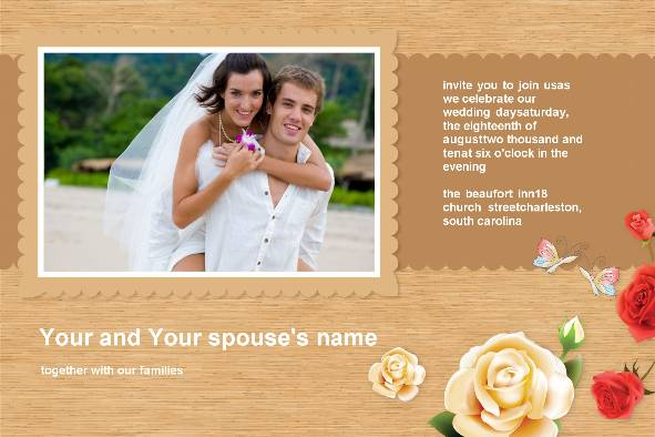 Love & Romantic templates photo templates Wedding Invitation - Romantic