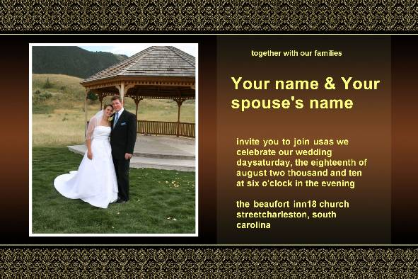 Wedding Photo Templates photo templates Wedding Invitation - Classical