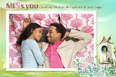 Love & Romantic photo templates Miss You