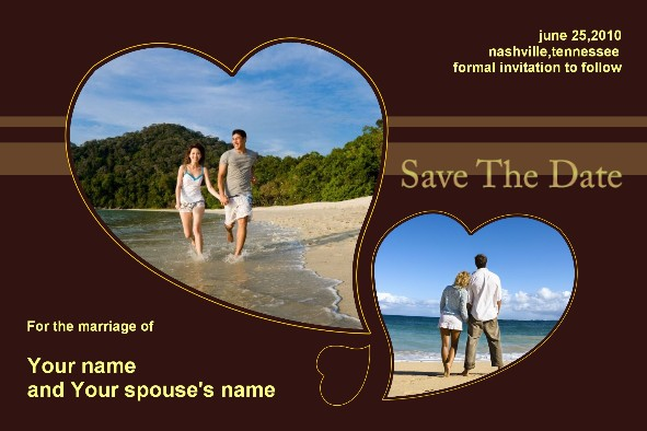 All Templates photo templates Save The Date - Chocolate