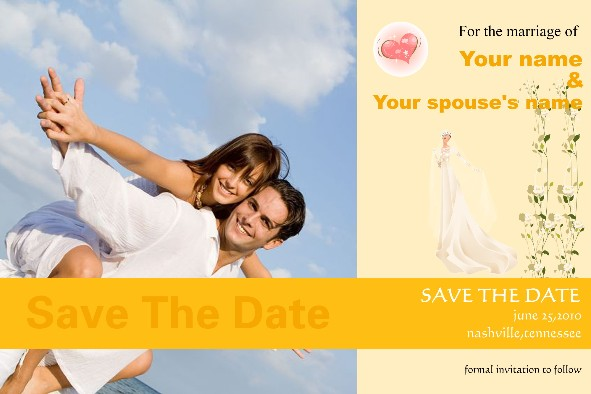 Love & Romantic templates photo templates Save the Date - 1